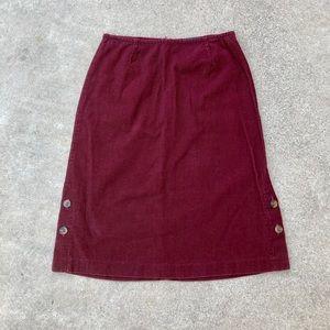 Vintage 90s y2k 2000s dockers corduroy Skirt Med
